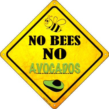 No Bees No Avocados Novelty Crossing Sign CX-337