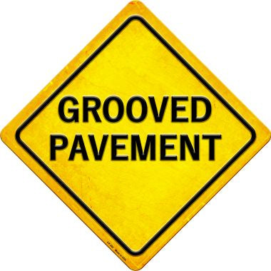Grooved Pavement Novelty Metal Crossing Sign CX-385