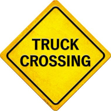 Truck Crossing Novelty Metal Crossing Sign CX-430
