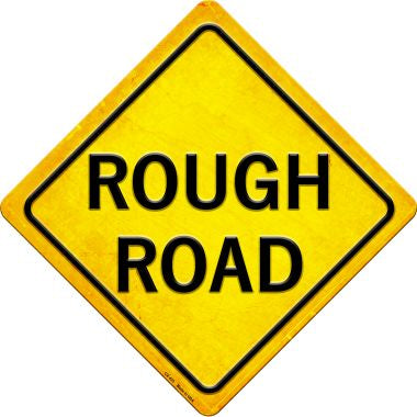 Rough Road Novelty Metal Crossing Sign CX-435