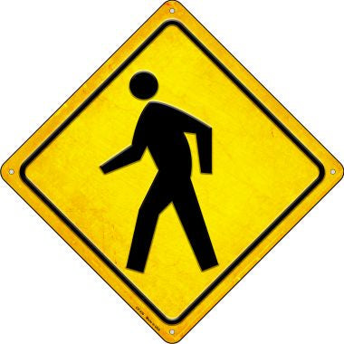 Pedestrian Crossing Novelty Metal Crossing Sign CX-439