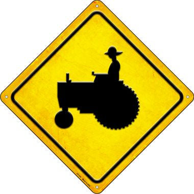 Tractor Crossing Novelty Metal Crossing Sign CX-445