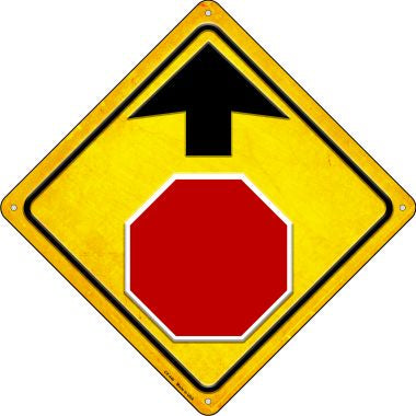 Stop Ahead Novelty Metal Crossing Sign CX-446