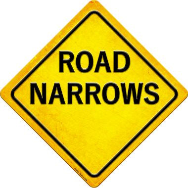 Road Narrows Novelty Metal Crossing Sign CX-466