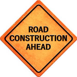 Road Construction Ahead Novelty Metal Crossing Sign CX-484