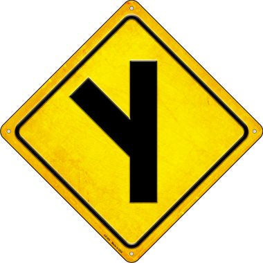 Side Road Left Novelty Metal Crossing Sign CX-495