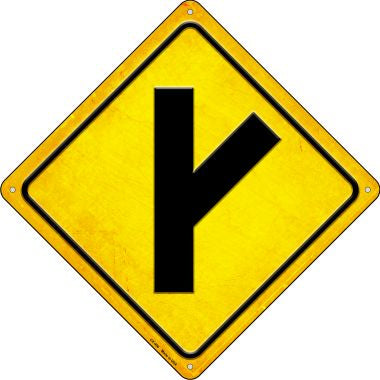 Side Road Right Novelty Metal Crossing Sign CX-496