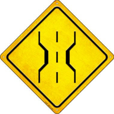 Road Narrows Novelty Metal Crossing Sign CX-499