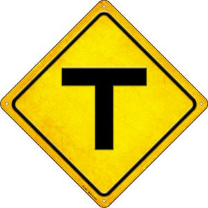 T Intersection Novelty Metal Crossing Sign CX-500