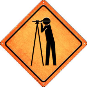Worker Ahead Novelty Metal Crossing Sign CX-501