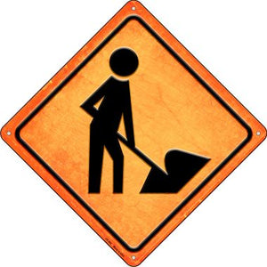 Worker Ahead Novelty Metal Crossing Sign CX-502