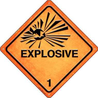 Explosive Novelty Metal Crossing Sign CX-505