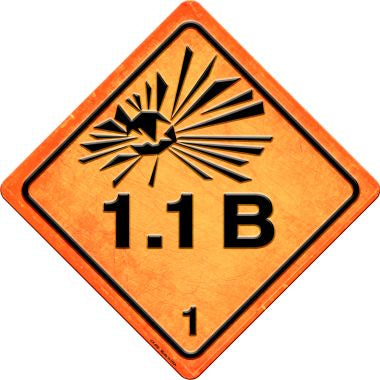 Explosive 1.1B Novelty Metal Crossing Sign CX-506