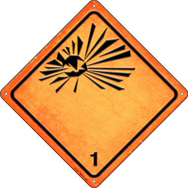 Explosive Novelty Metal Crossing Sign CX-512