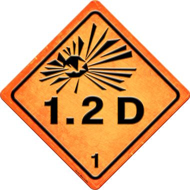 Explosive 1.2D Novelty Metal Crossing Sign CX-515