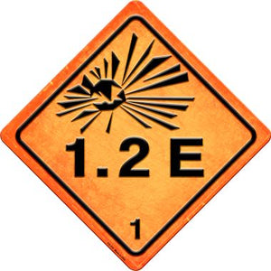 Explosive 1.2E Novelty Metal Crossing Sign CX-516