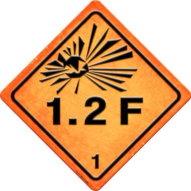 Explosive 1.2F Novelty Metal Crossing Sign CX-517