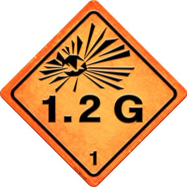 Explosive 1.2G Novelty Metal Crossing Sign CX-518