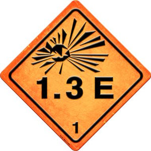 Explosive 1.3E Novelty Metal Crossing Sign CX-523