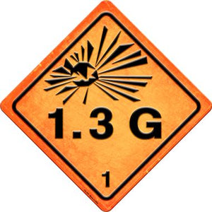 Explosive 1.3G Novelty Metal Crossing Sign CX-525