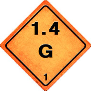 G 1.4 Novelty Metal Crossing Sign CX-527