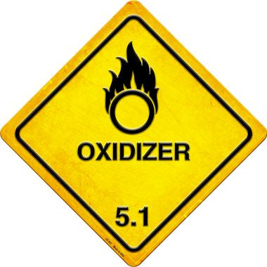 Oxidizer Novelty Metal Crossing Sign CX-537