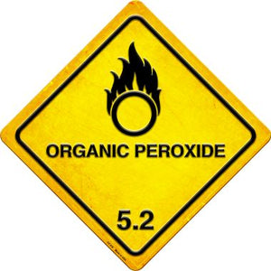 Organic Peroxide Novelty Metal Crossing Sign CX-538