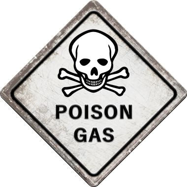 Poison Gas Novelty Metal Crossing Sign CX-541
