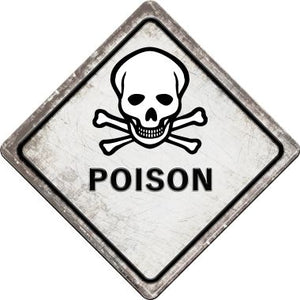 Poison Novelty Metal Crossing Sign CX-542