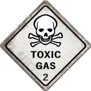 Toxic Gas Novelty Metal Crossing Sign CX-543