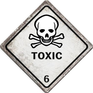 Toxic Novelty Metal Crossing Sign CX-545