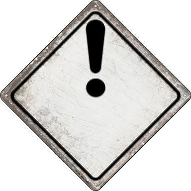 Attention Novelty Metal Crossing Sign CX-548