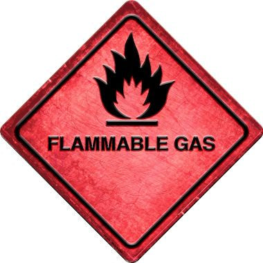 Flammable Gas Novelty Metal Crossing Sign CX-555