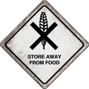 Store Away From Food Novelty Metal Crossing Sign CX-566