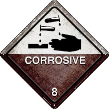 Corrosive Novelty Metal Crossing Sign CX-569