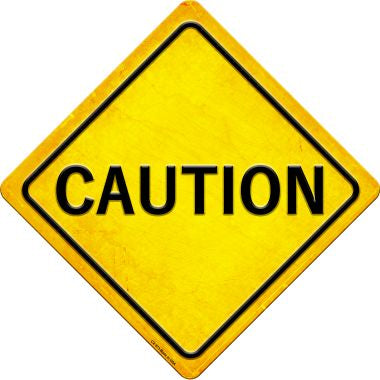 Caution Novelty Metal Crossing Sign