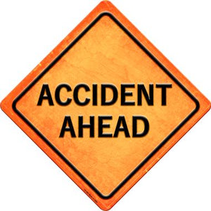 Accident Ahead Novelty Metal Crossing Sign