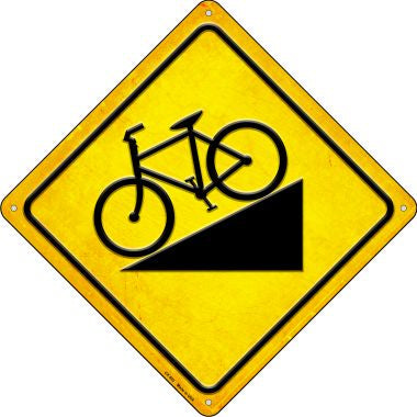 Steep Grade Bike Novelty Metal Crossing Sign CX-592