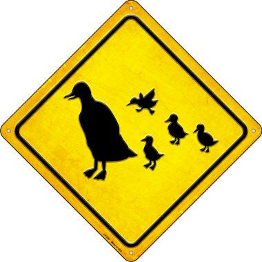Duck and Ducklings Novelty Metal Crossing Sign CX-609