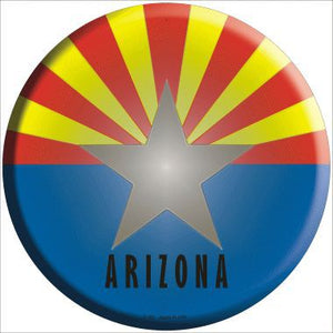 Arizona State Flag Metal Circular Sign
