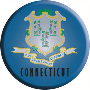 Connecticut State Flag Metal Circular Sign