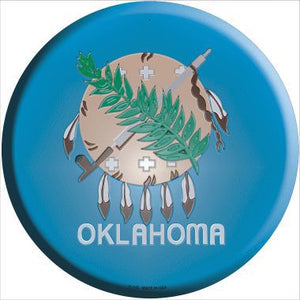 Oklahoma State Flag Metal Circular Sign