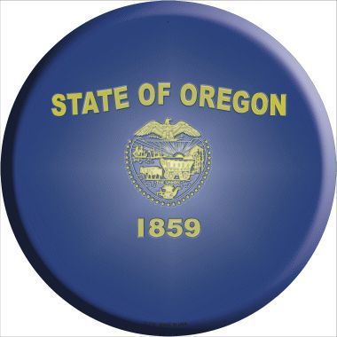 Oregon State Flag Metal Circular Sign