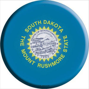 South Dakota State Flag Metal Circular Sign