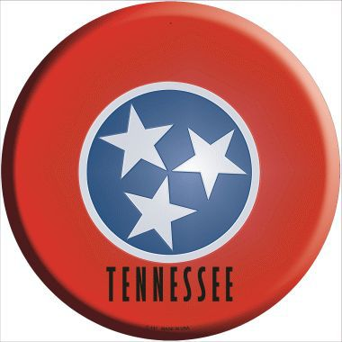 Tennessee State Flag Metal Circular Sign