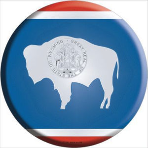 Wyoming State Flag Metal Circular Sign