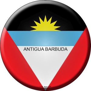 Antigua Barbuda Novelty Metal Circular Sign