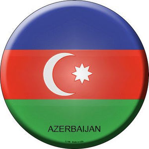Azerbaijan Country Novelty Metal Circular Sign