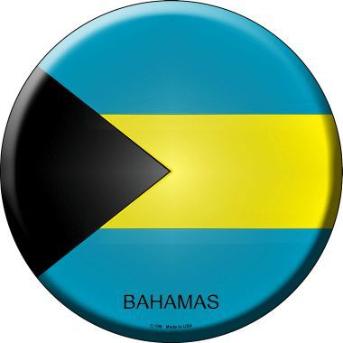 Bahamas Country Novelty Metal Circular Sign