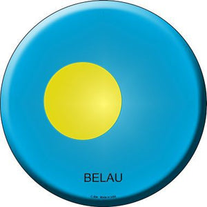 Belau Country Novelty Metal Circular Sign